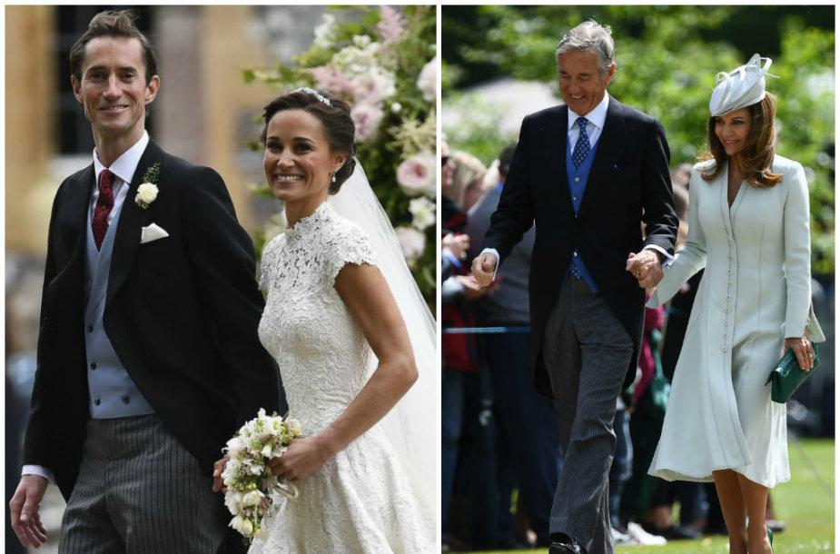 Pippa Middleton ir Jamesas Matthewsas, Davidas Matthewsas su žmona Jane