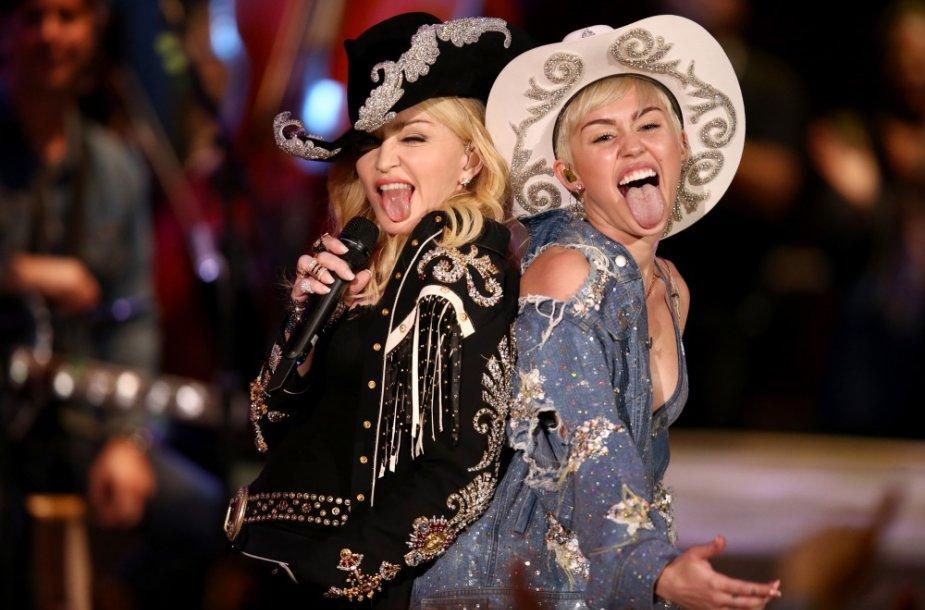 Madonna ir Miley Cyrus
