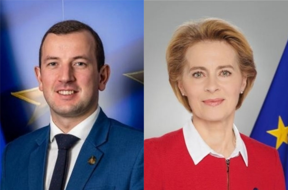 Virginijus Sinkevičius ir Ursula von der Leyen