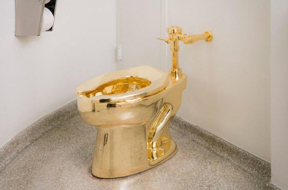 Guggenheimo muziejuje veikia auksinis tualetas