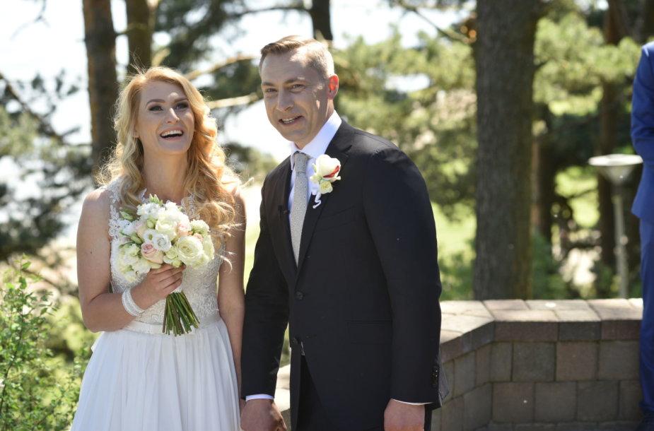 Tomo Beržinsko ir Natalijos Kondrotienės vestuvių akimirka