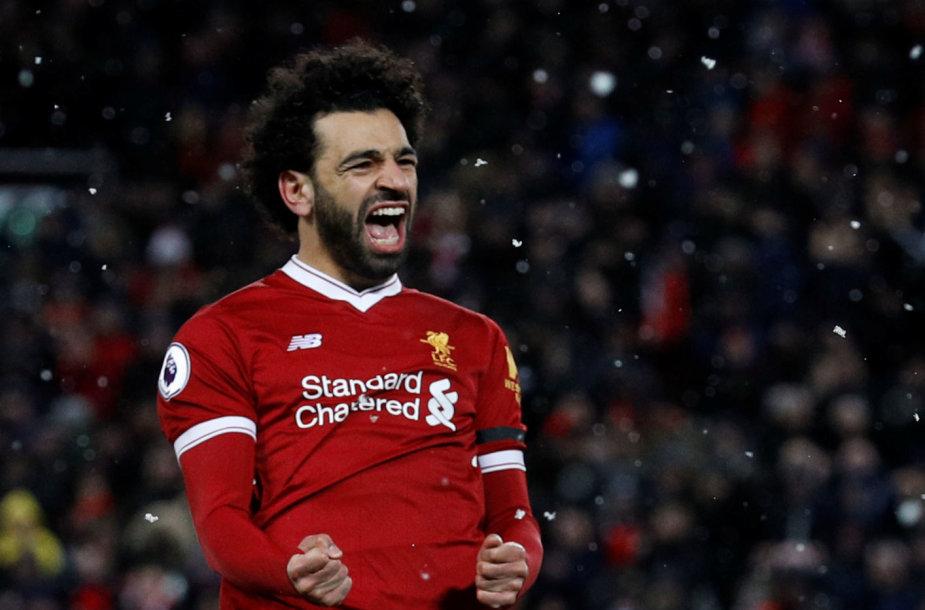 Mohomedas Salah įmušė keturis įvarčius