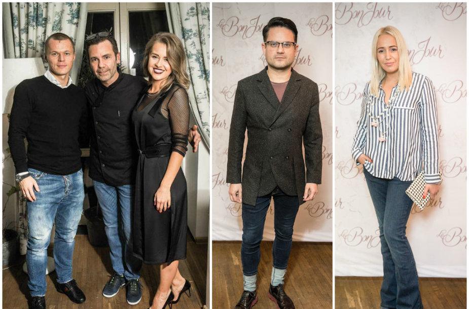 Darvydas Šernas ir Sandra Šernė su šefu Danilo Bianco, Edvardas Žičkus bei Elena Puidokaitė