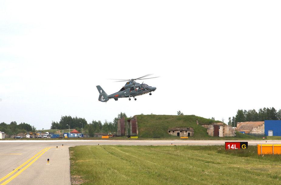 """Naujasis sraigtasparnis """"Eurocopter"""""""