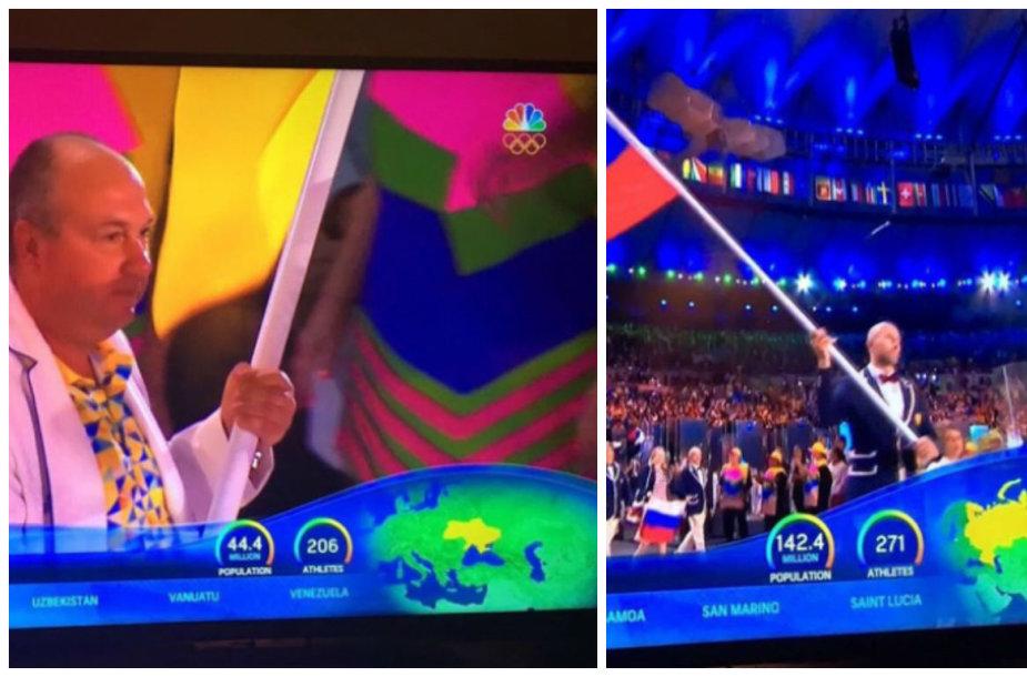 Olimpinių žaidynių atidarymo transliacija
