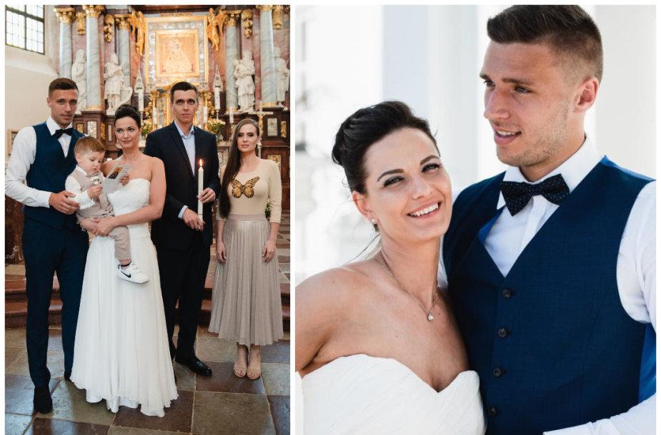 Gintarės Jarošaitės ir Edgaro Žarskio sūnaus krikštynų ir vestuvių akimirkos