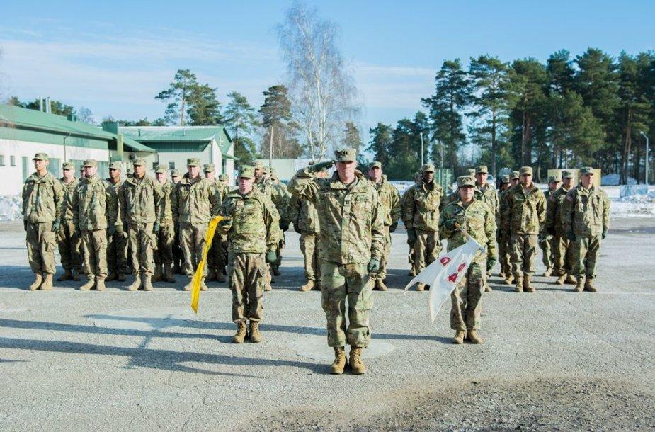 Nauja JAV rotacinių pajėgų kuopa Lietuvoje