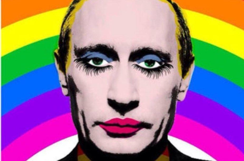 Rusijoje uždrausta dalintis Putiną pašiepiančia nuotrauka