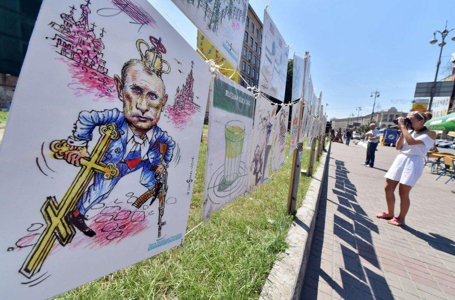 Vladimiro Putino karikatūra Ukrainoje