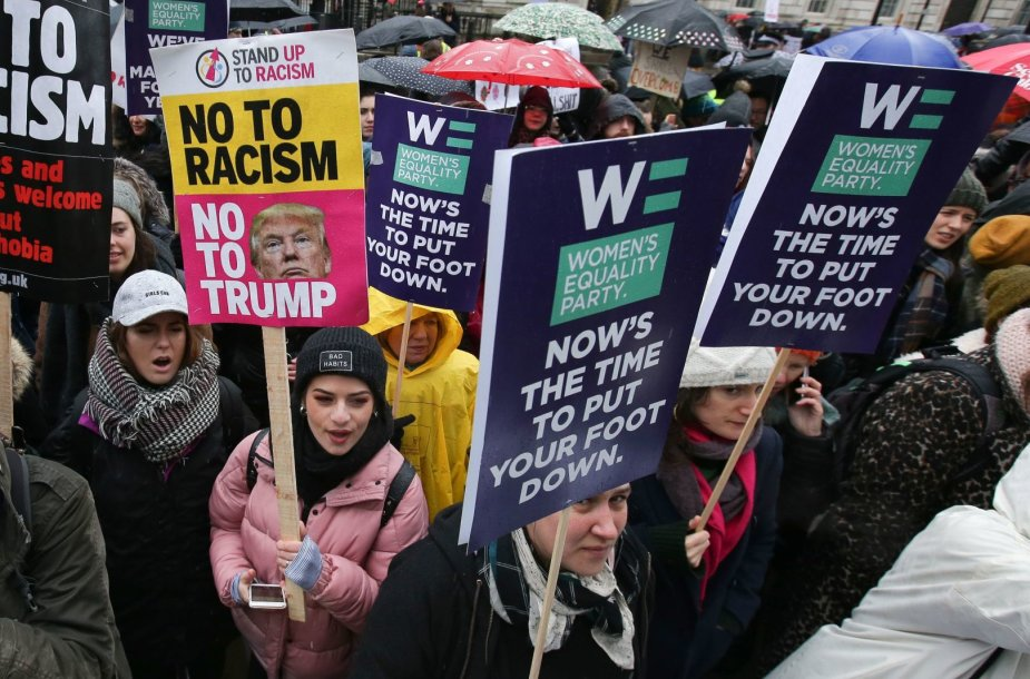 Demonstracija už moterų teises Londone