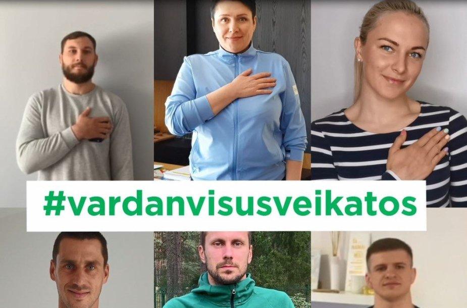 """""""Eurovaistinės"""" skiepijamas saugus sveikinimosi būdas plinta – vis daugiau žmonių glaudžia ranką prie širdies"""