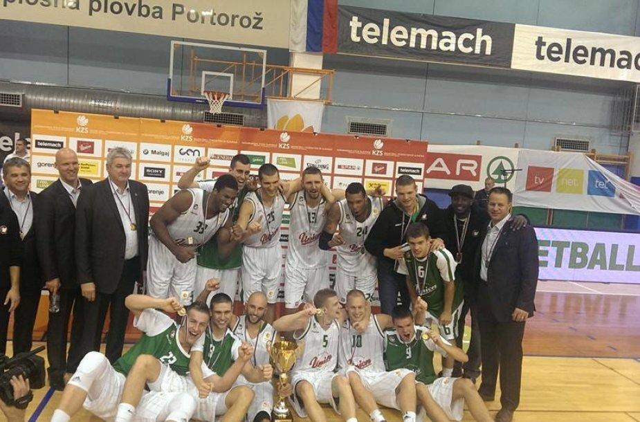 """""""Union Olimpija"""" krepšininkai – Slovėnijos supertaurės laimėtojai"""