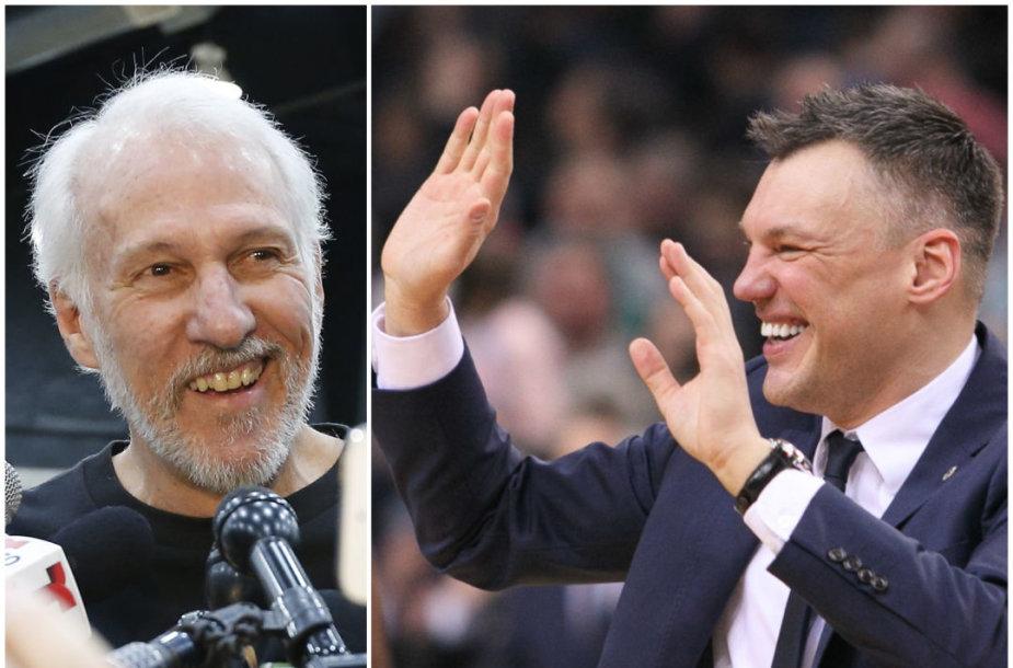 Greggas Popovičius ir Šarūnas Jasikevičius