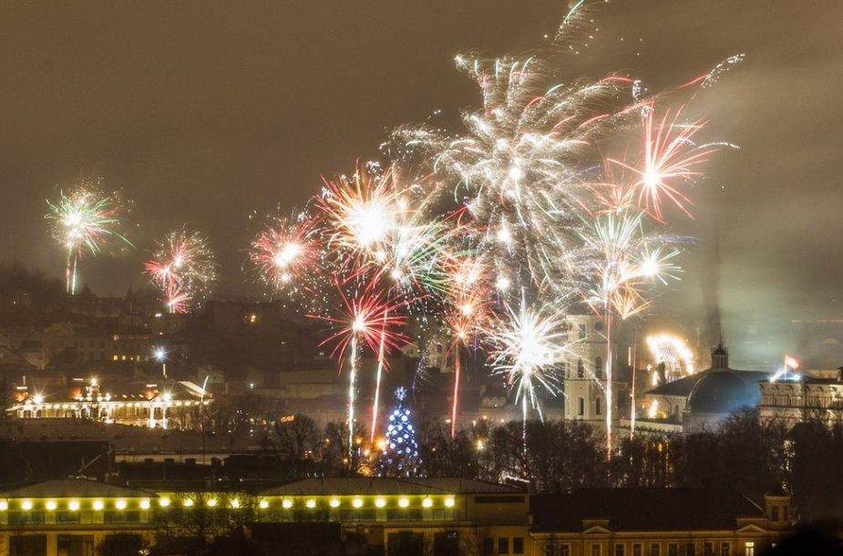 Naujųjų metų sutikimas sostinės centre.