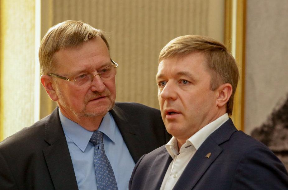 Juozas Bernatonis ir Ramūnas Karbauskis