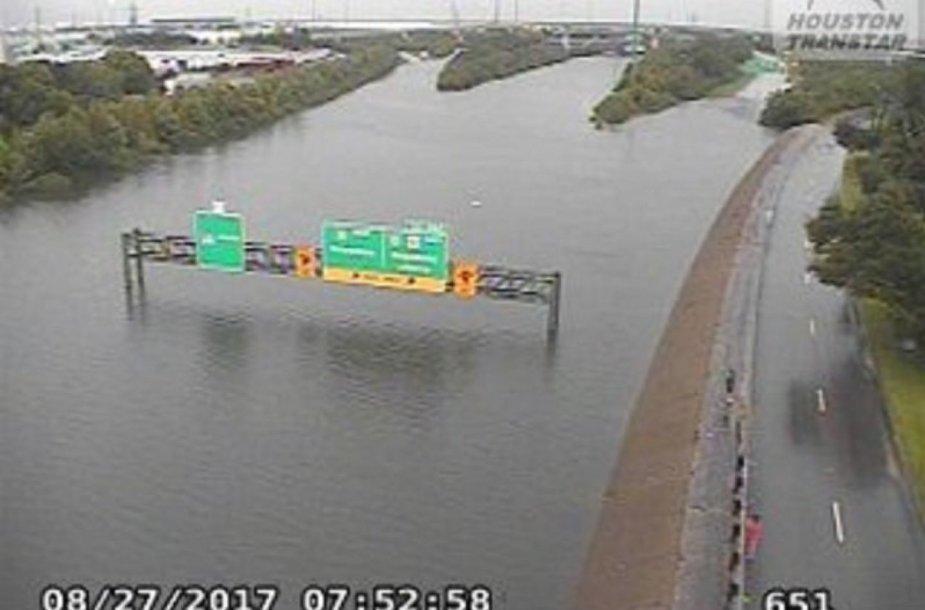 Potvynis Hjustone