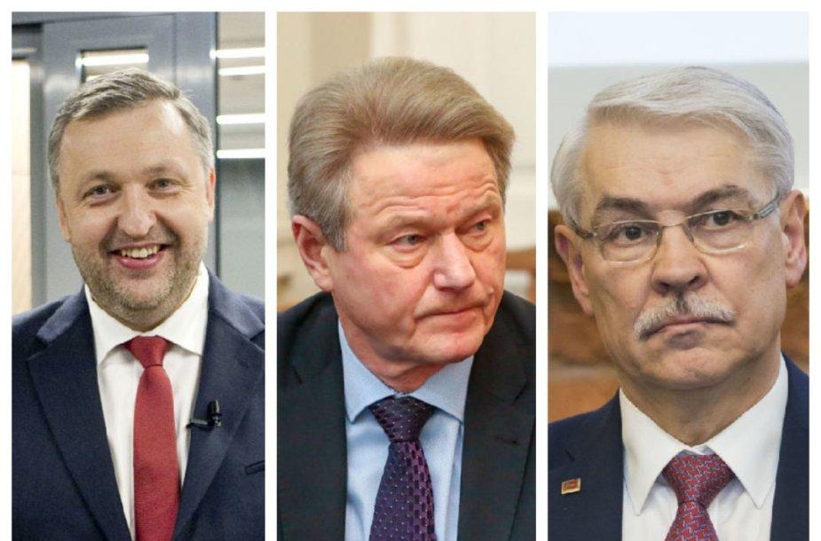 Antanas Guoga, Rolandas Paksas, Zigmantas Balčytis