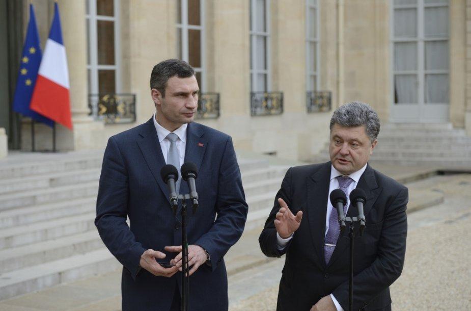 Vitalijus Klyčko ir Petro Porošenka