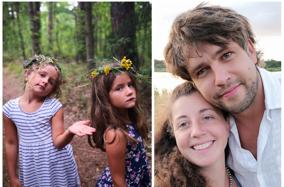 Andrius Pojavis su žmona Isabella ir dukromis Alisa ir Amelija