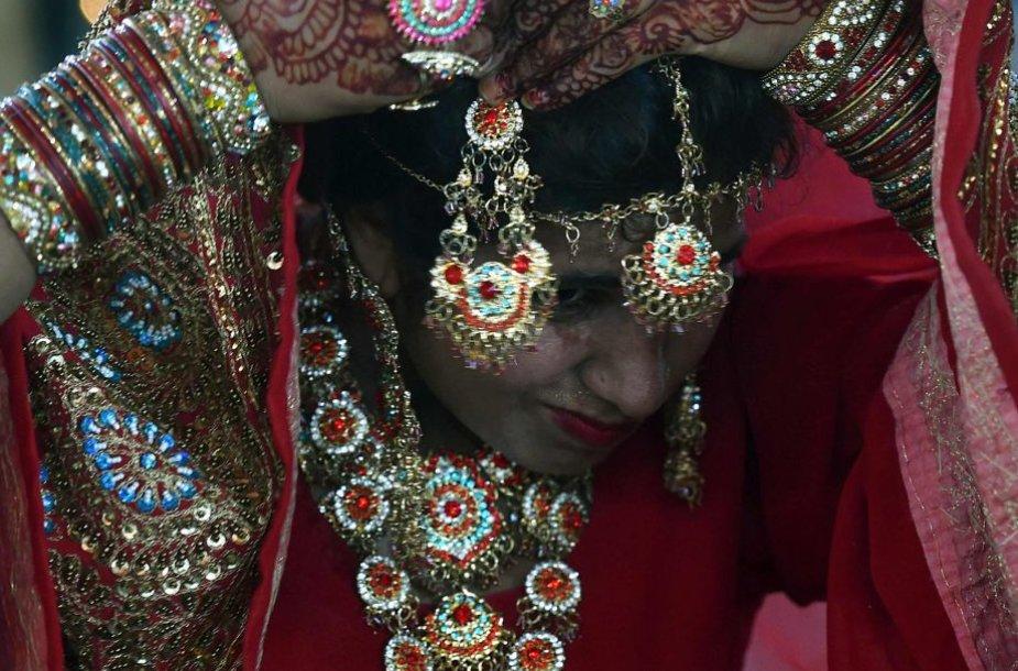 Masinė vestuvių ceremonija Pakistane