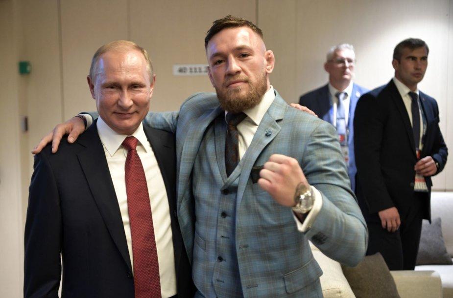 Vladimiras Putinas ir Conoras McGregoras