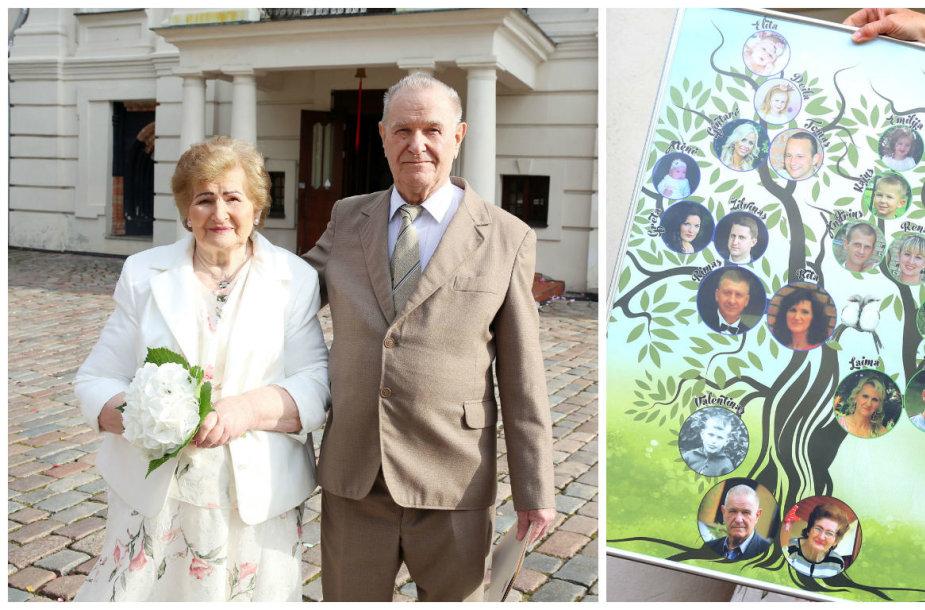 Benediktas ir Jadvyga Šapauskai švenčia deimantines vestuves