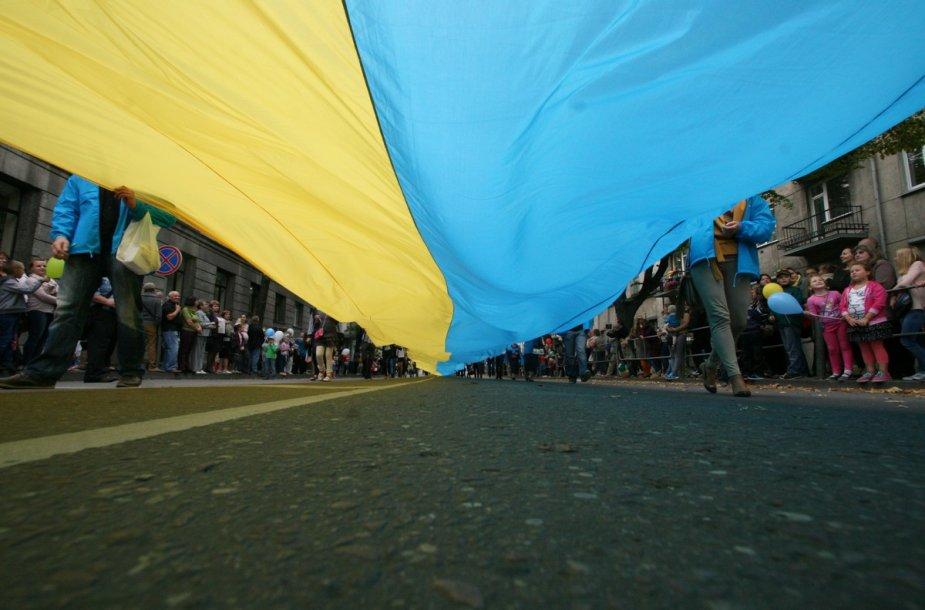 Ukrainos vėliava Šiaulių dienose