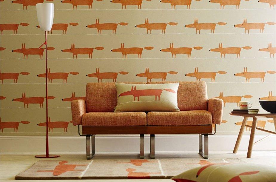 """Kolekcija """"Mr. Fox"""" (""""Scion"""" dizaino namai)."""