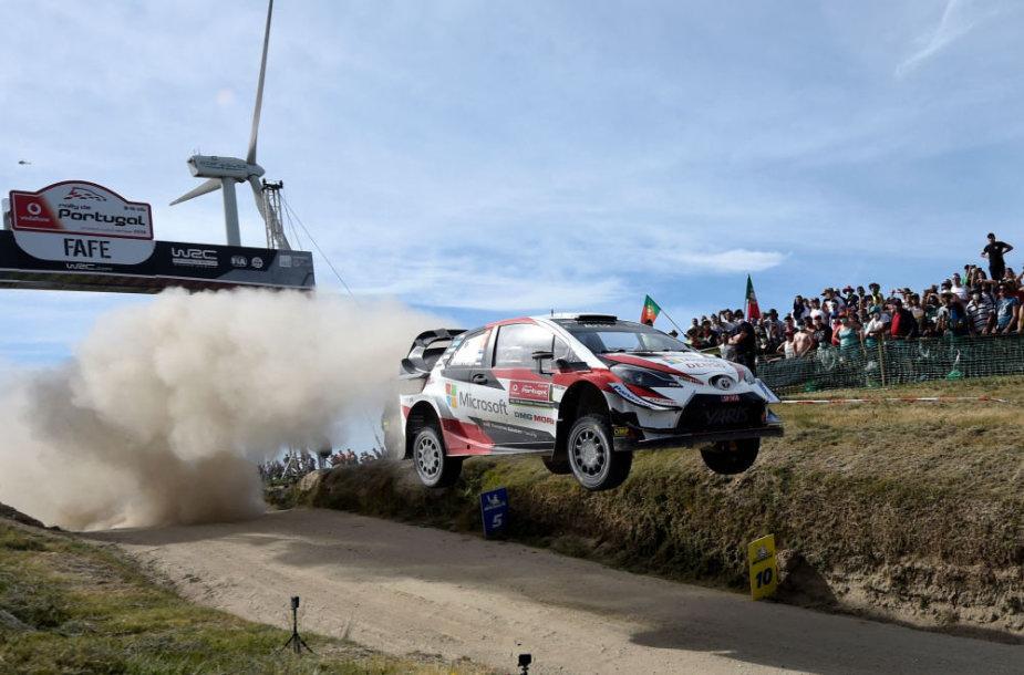 Ottas Tanakas su Martinu Jarveoja laimėjo WRC Portugalijos ralį