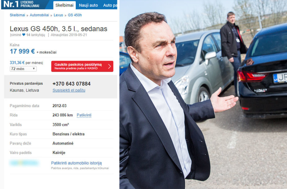 """Parduodamo Petro Gražulio """"Lexus GS"""" skelbimas"""