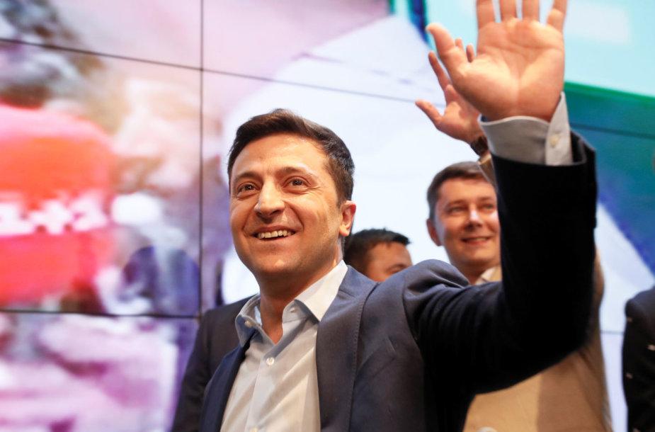 Volodymyras Zelenskis rinkimų štabe