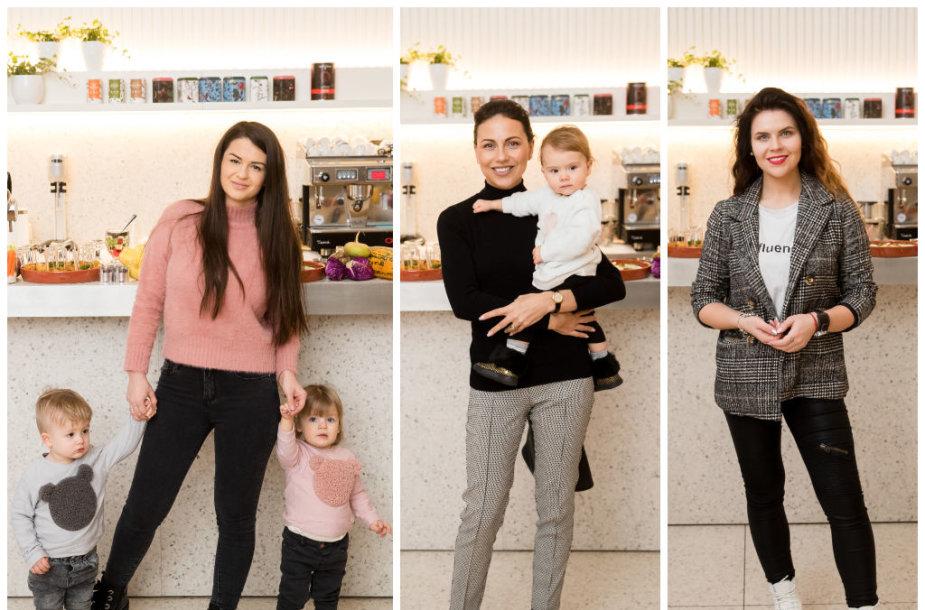 Simona Lipnė su vaikais, Julija Žižė su dukra Otilija, Inga Žuolytė