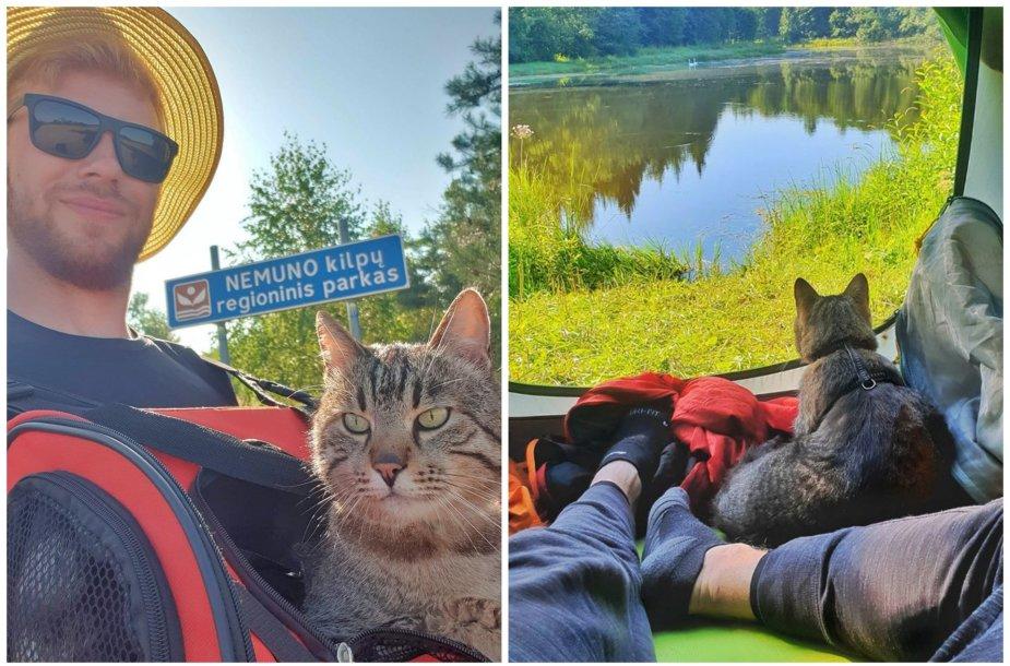 """Ispanijoje augęs Renaldas į 500 km ilgio žygį """"Camino Lituano"""" leidosi su katinu"""