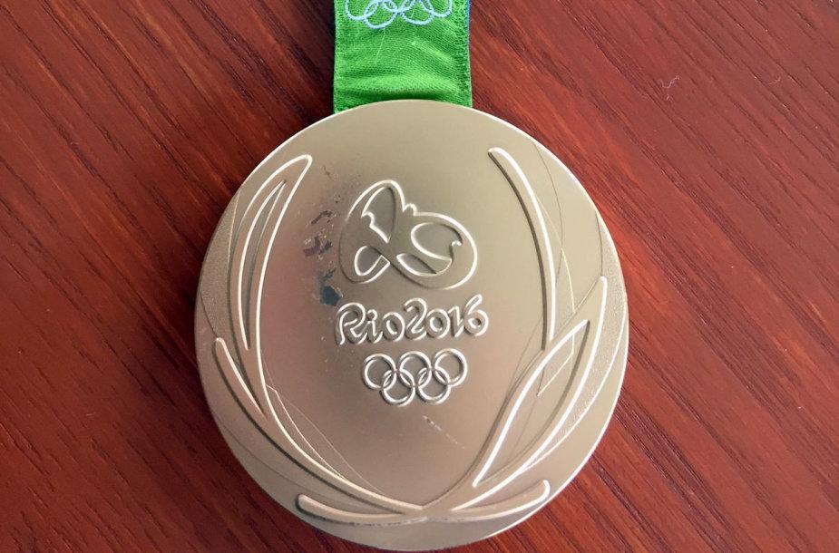 Pažeistas Rio olimpinis medalis