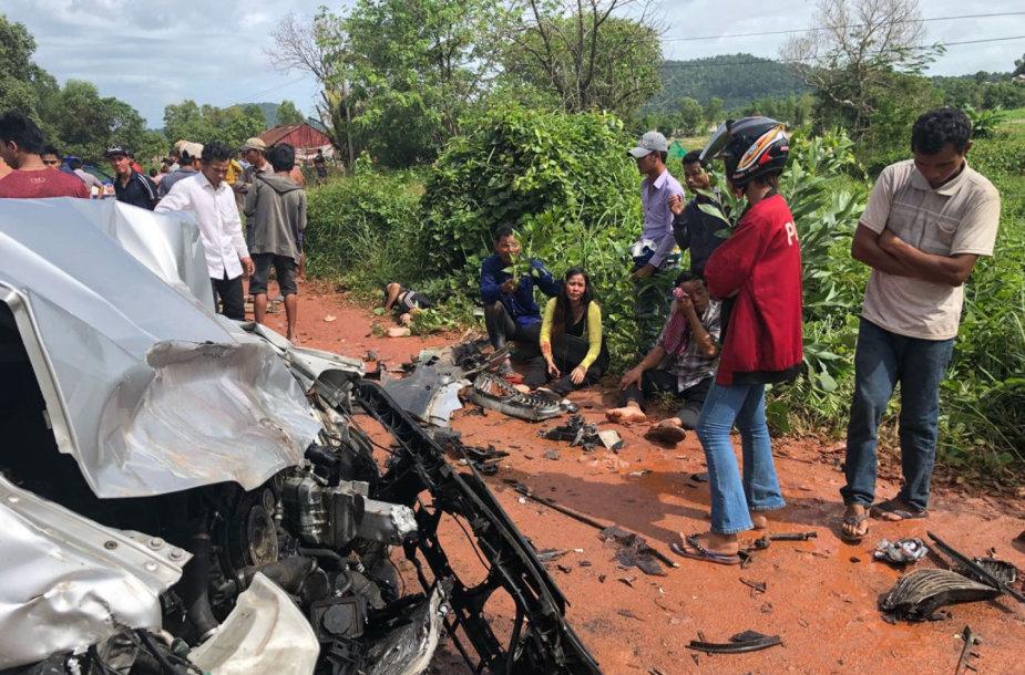 Automobilis, kuriuo važiuodamas į avariją pakliuvo Kambodžos princas Norodomas Ranariddhas