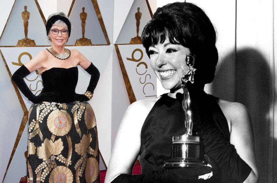 Rita Moreno su ta pačia suknele 2018 ir 1962 metais