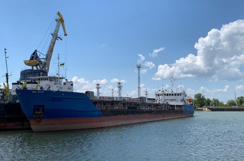 """Rusijos tanklaivis """"Nika Spirit"""" (""""NEYMA"""")"""