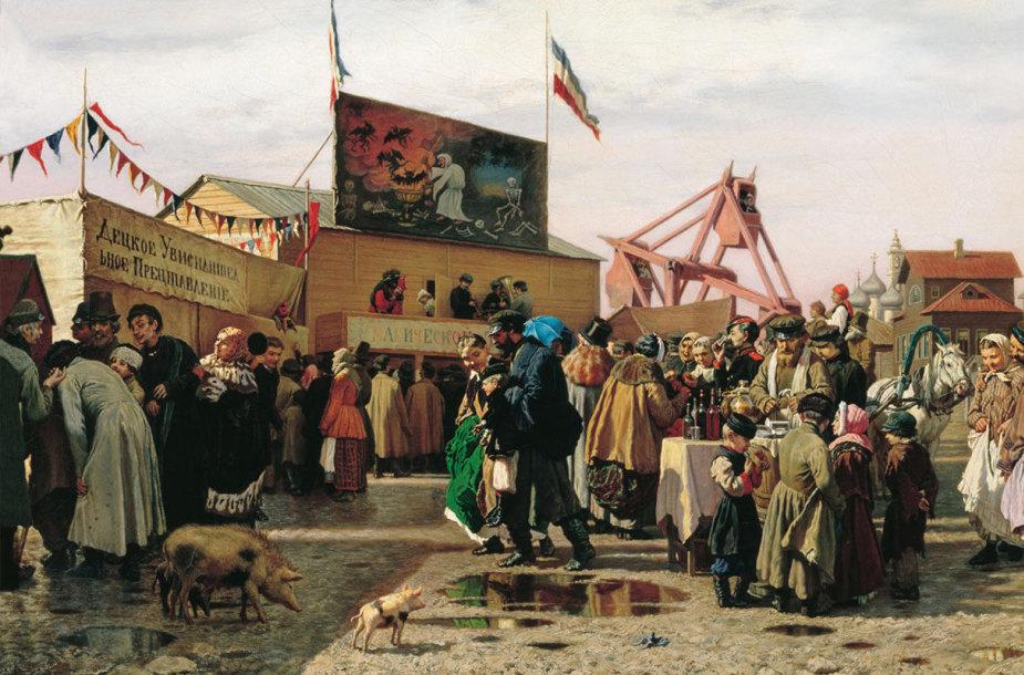 Tipiškas 19 a. balagano vaizdas