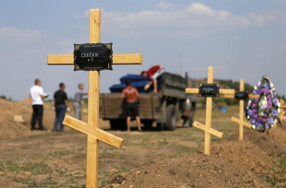 Žuvusiųjų kapai Donbase
