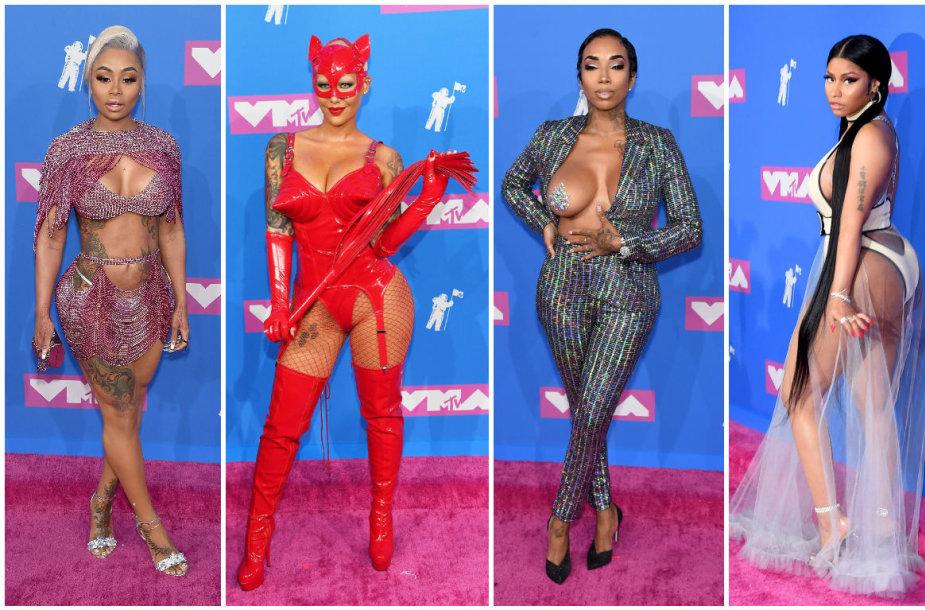 MTV apdovanojimų viešnios: Blac Chyna, Amber Rose, Sky ir Nicki Minaj