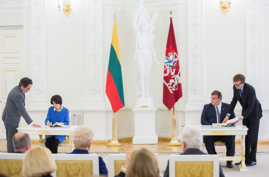 Fabiola Gianotti  ir Linas Linkevičius