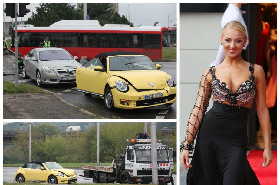 "Eglės Straleckaitės ""Volkswagen Beetle"" pateko į avariją"
