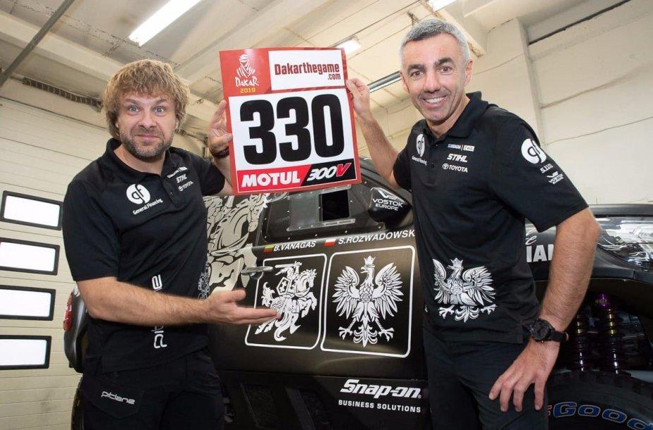 Benediktas Vanagas ir Sebastianas Rozwadowskis Dakare 2019 startuos 330-uoju numeriu.
