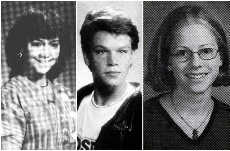 Jennifer Lopez, Mattas Damonas ir Avril Lavigne mokyklos laikais