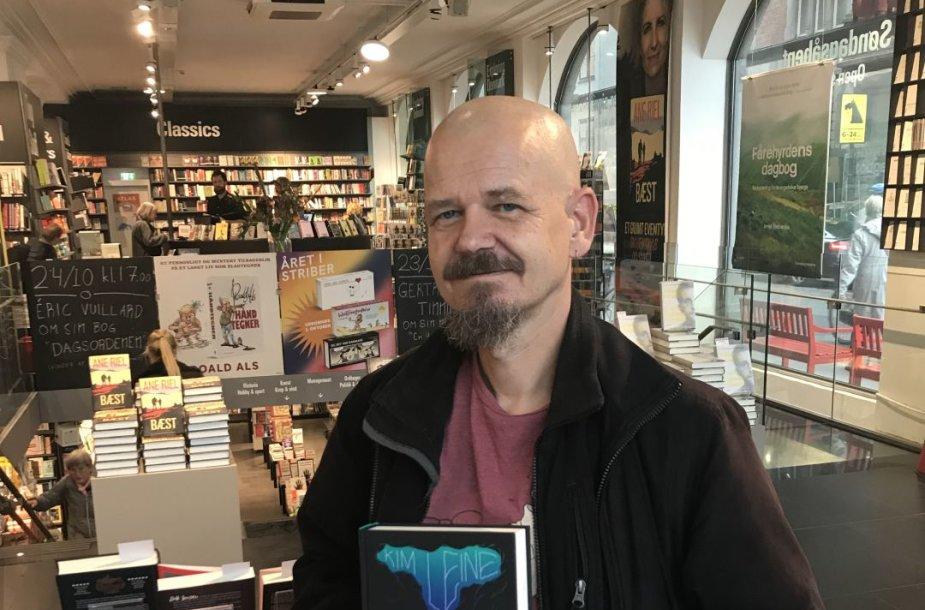 Kimas Leine Kopenhagoje su lietuvišku savo romano leidimu