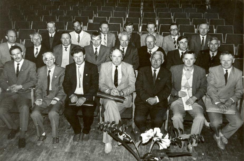 Pirmoji Žemės ūkio taryba, kurią sudarė 27 nariai