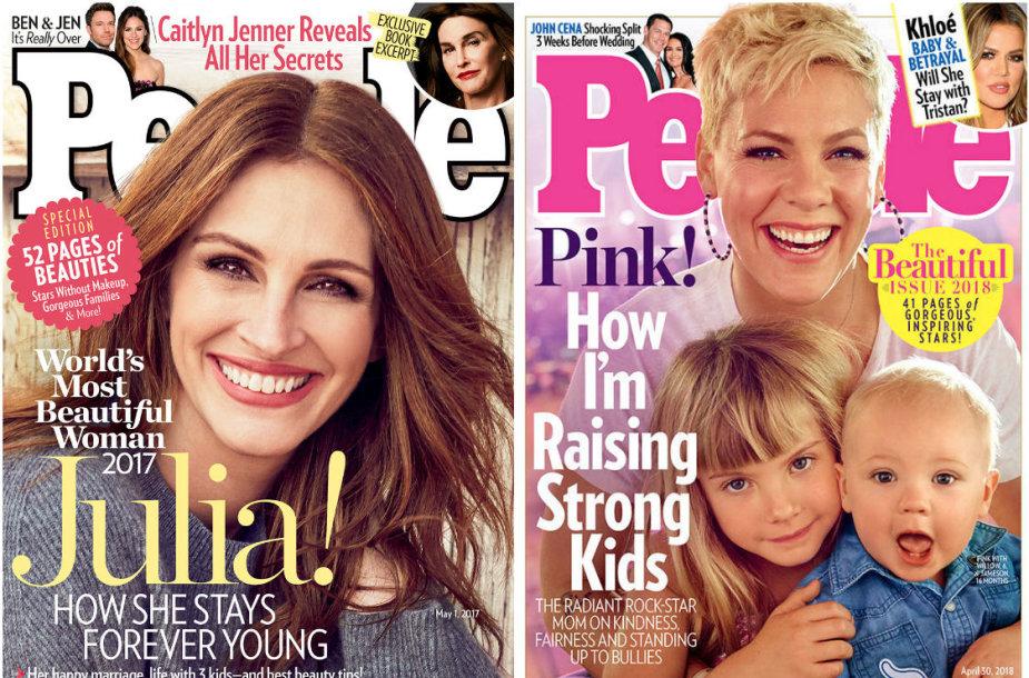 """Julia Roberts ir Pink su vaikais ant """"People"""" gražiausiųjų viršelių"""