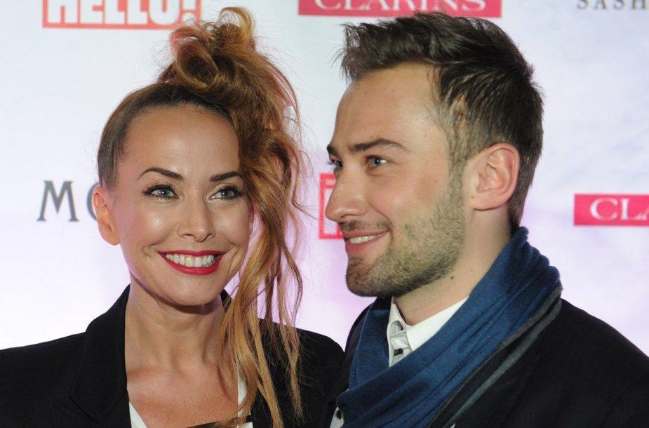 Žana Friskė ir jos gyvenimo draugas Dmitrijus Šepeliovas
