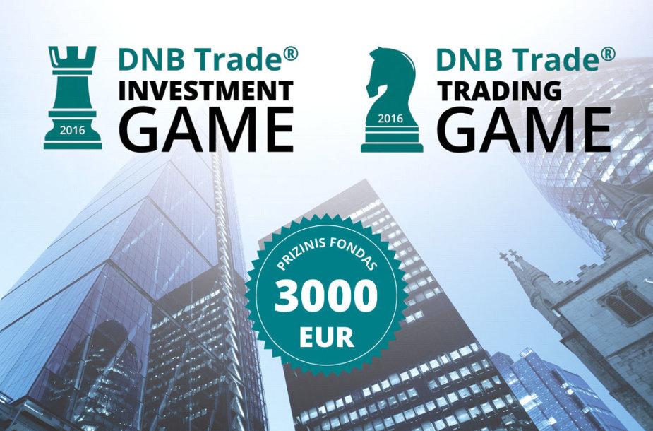 """DNB Trade Investment Game"" ir ""DNB Trade Trading Game"" žaidimai"
