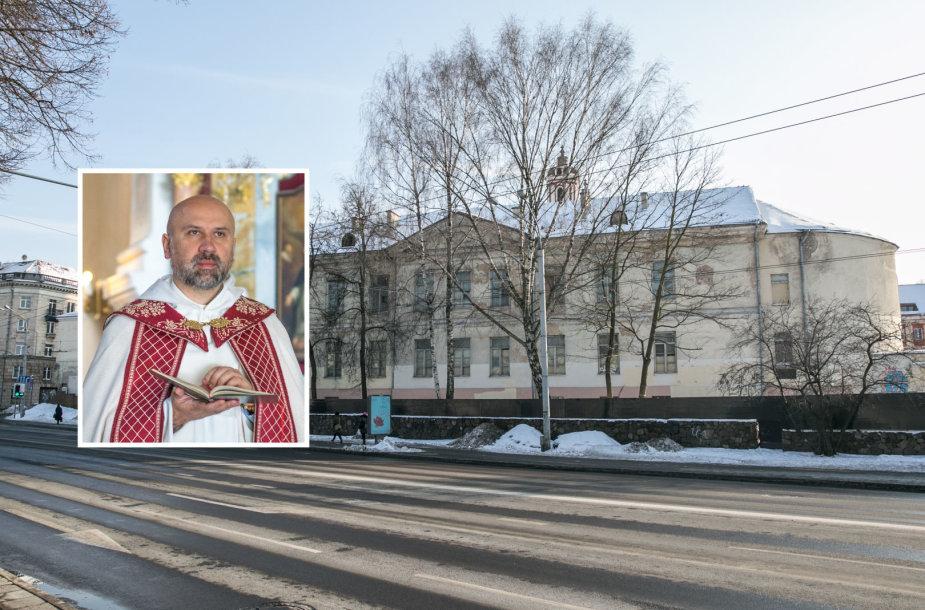 Mindaugas Slapšinskas ir buvusi Šv. Jokūbo ligoninės teritorija